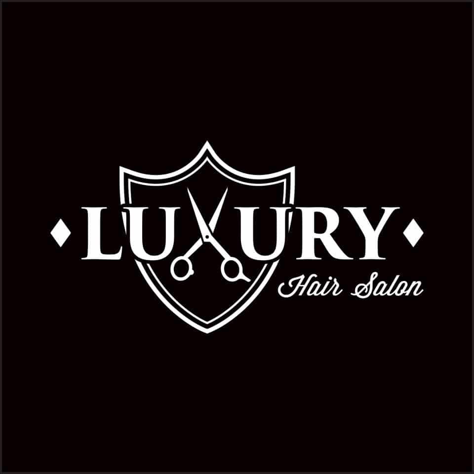logotipo luxury hair salon